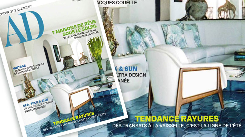 POLTRONA STELLA NA CAPA DA REVISTA AD FRANCESA DE JUL/AGO2018 – LINBRASIL