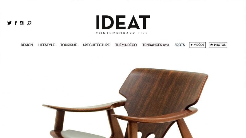 Poltrona Diz na Edição de Julho da IDEAT Magazine – LinBrasil